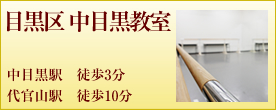 バレゾナンス東京バレエスタジオ目黒区 中目黒教室