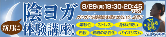 陰ヨガ体験講座【2011.9.26(月)】:股関節を緩ませたい方必見